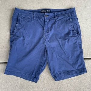 American Eagle navy khaki slim active flex shorts